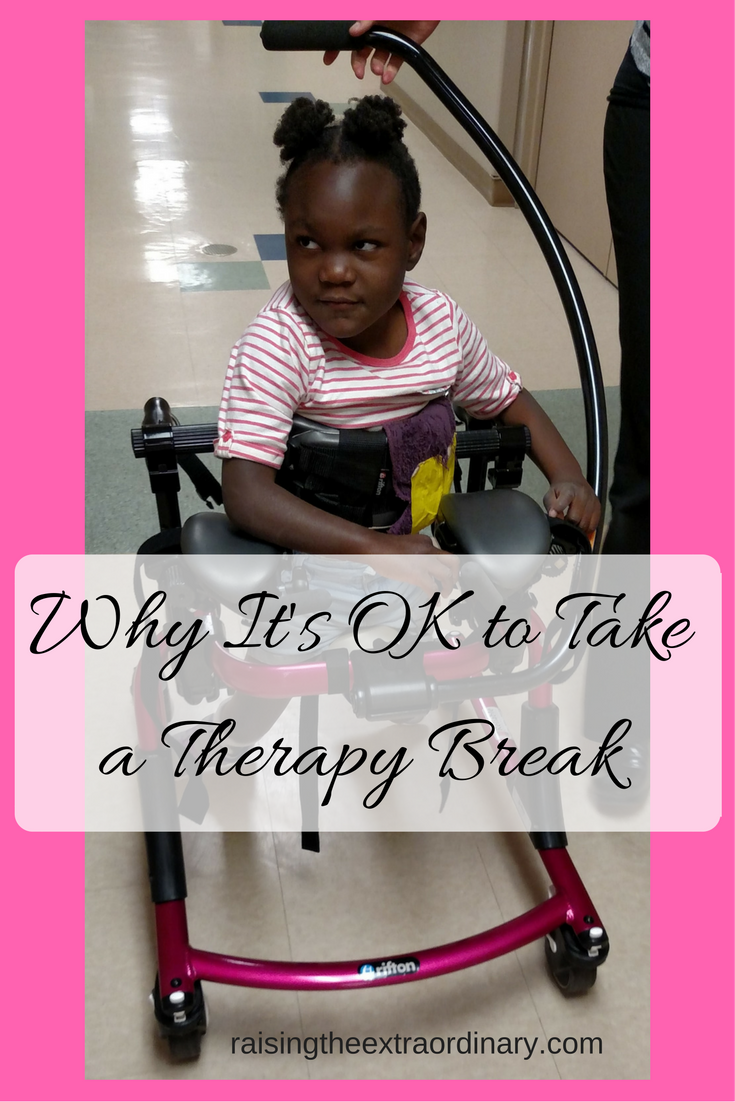 special needs | kids with special needs | special needs kids | special needs parenting | special needs mom | cerebral palsy | physical therpay | speech therapy | occupational therapy | when to take a break from therapy | therapy break